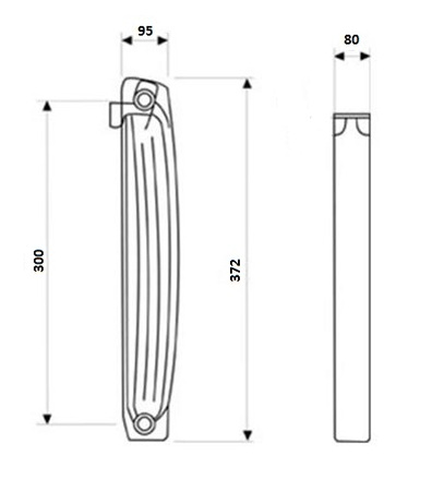 биметаллического радиатора