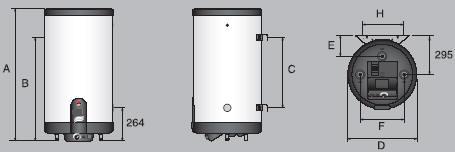 Бойлеры косвенного нагрева из нержавеющей стали Smart SLE W/HLE ACV Бельгия - типоразмеры